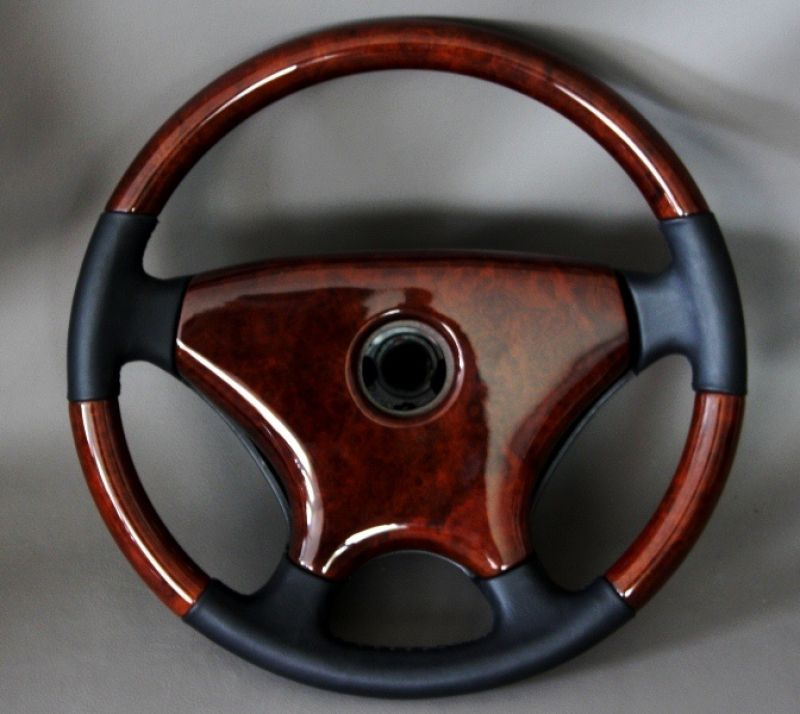 Steering wheel cover zebrano wood mercedes w201 w124 for Mercedes benz steering wheel cover