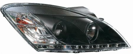 headlights dragon design clear black kia ceed bj 06 09. Black Bedroom Furniture Sets. Home Design Ideas