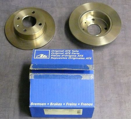 2 ATE brake disc Ford Escort 3/4