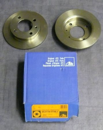 2 ATE Brake Disc fit for Ford Fiesta