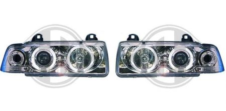 scheinwerfer chrom bmw e36 limousine touring compact fmw. Black Bedroom Furniture Sets. Home Design Ideas