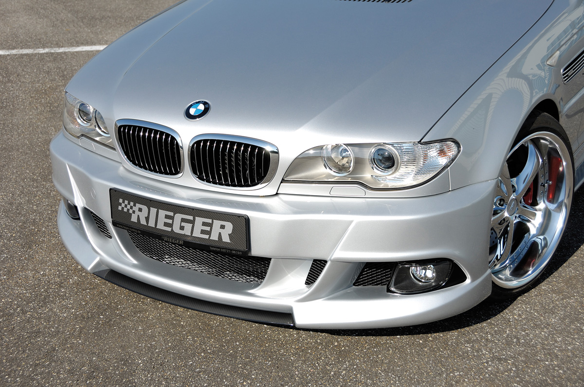 Fmw Tuning Autoteile Rieger Spoiler For Frontspoiler 50411 Bmw E46 Carbon Look