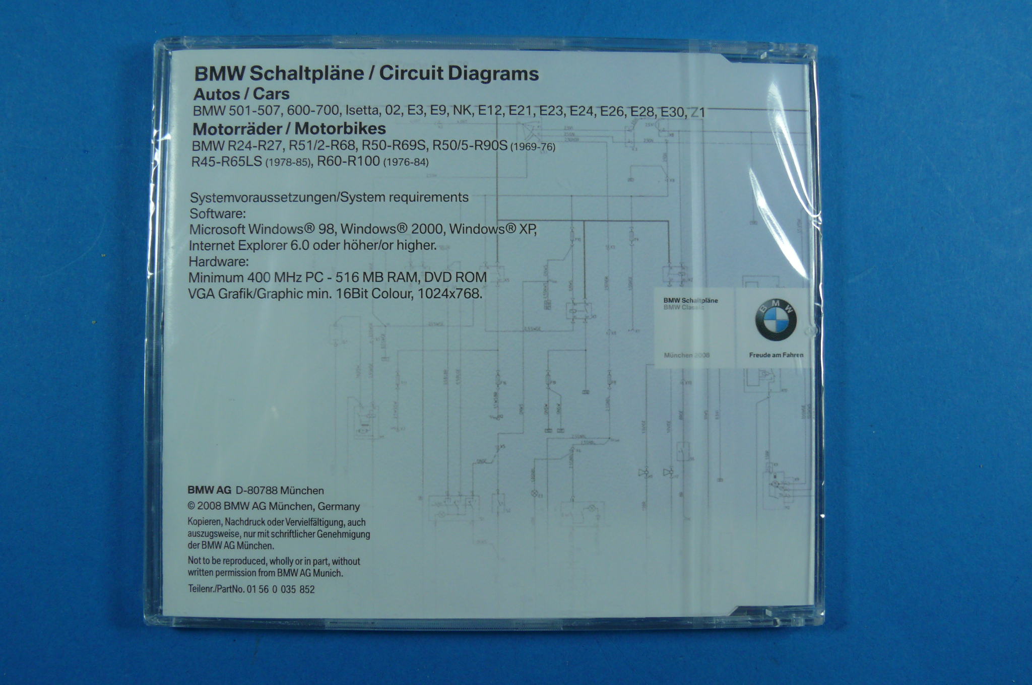 Bmw 01560035852 Fmw Tuning Autoteile Z1 Wiring Diagram Cd Schematic Circuit Diagrams 501 E30 De En 3er 5er 6er 7er