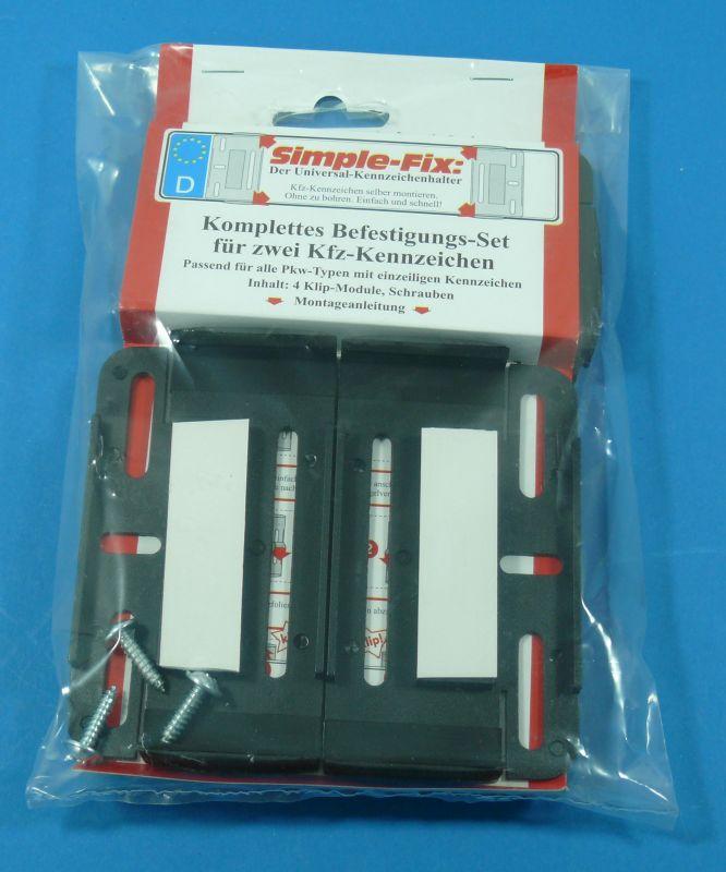 2 rahmenlose Kennzeichenhalter Nummernschildhalter Original Simple ...