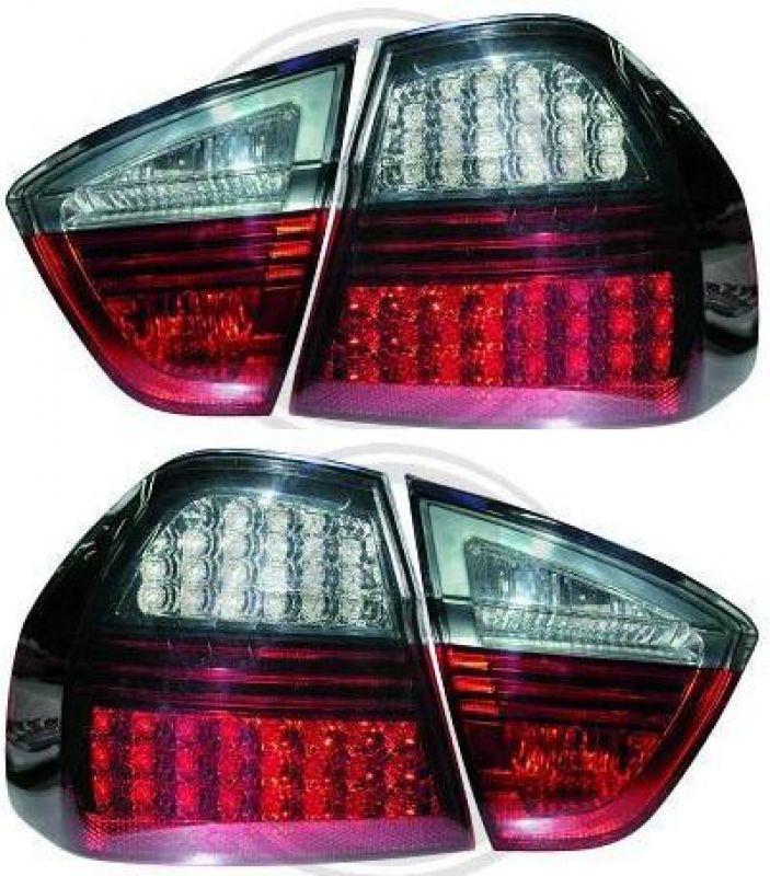 led r ckleuchten rot grau bmw 3er e90 limousine 05 08. Black Bedroom Furniture Sets. Home Design Ideas