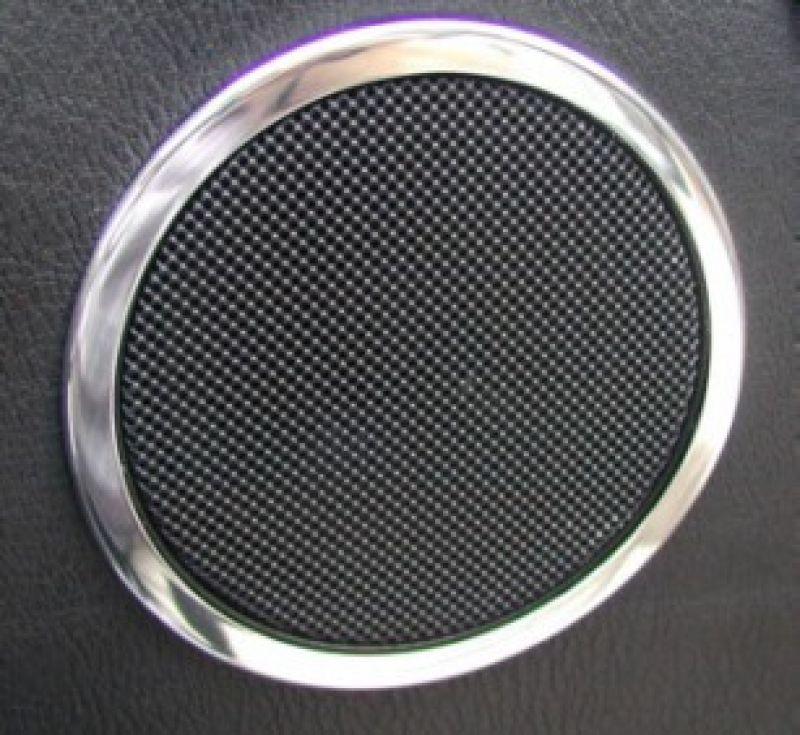 Bmw Z3 Speakers: Door Speaker Rings 110mm Polished (2 Pcs) BMW E36/Z3
